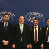 """Giovani Democratici in visita al Parlamento Europeo, Zoina: """"Il futuro dell'Irpinia passa per l'Europa"""""""
