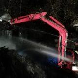 Incendio in un deposito di legna, Vigili del Fuoco a contrada Pignatella