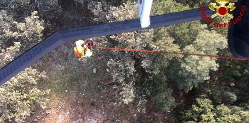 Escursionista ferito a Montella, soccorso dai Vigili del Fuoco