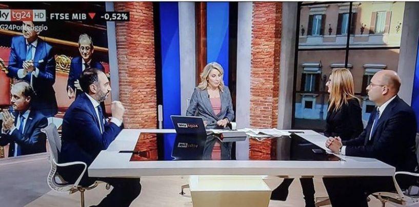 """Gubitosa a Sky Tg24: """"Disinnescata la bomba del Governo Gentiloni, con noi l'Iva non aumenterà"""""""