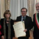 Diplomi al merito, premi per il comandante dei Vigili del Fuoco D'Eliseo e il direttore Parente
