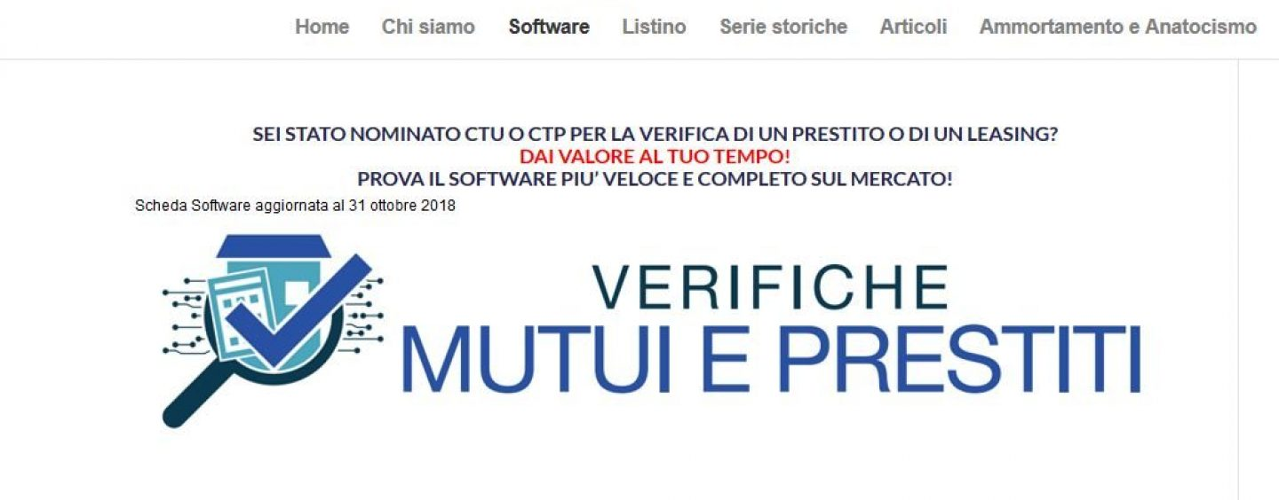 Stop all'anatocismo nei mutui: nuovo software di Sinergia