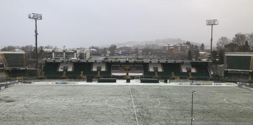 La neve insidia l'Avellino: strada ghiacciata verso il Ladispoli