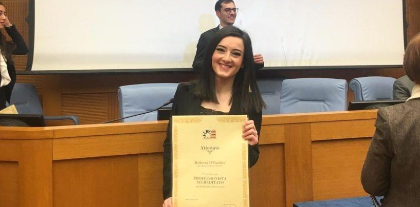Studentessa premiata alla Camera dei Deputati: il caso GESESA al centro della tesi di laurea