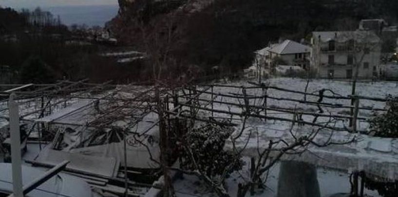 Neve a Salerno e in Costiera Amalfitana. Università chiusa anche al personale amministrativo