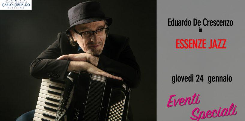 """Teatro Gesualdo, giovedì 24 gennaio appuntamento con """"Essenze Jazz"""" di Eduardo De Crescenzo"""