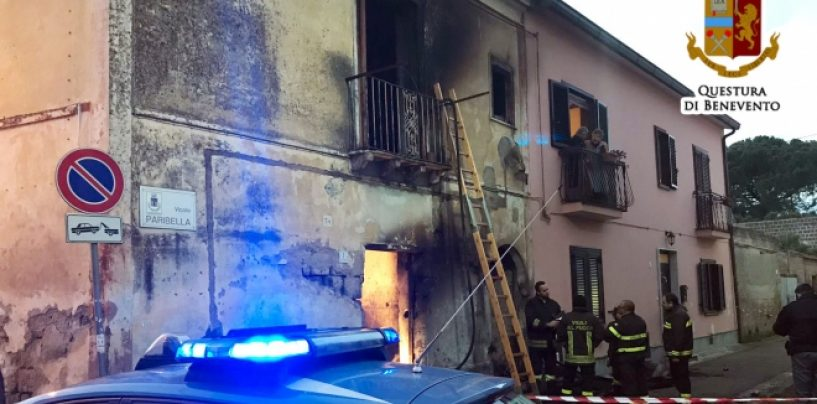 Tragedia nel Sannio,  gli va a fuoco la casa: muore insieme ai suoi cani