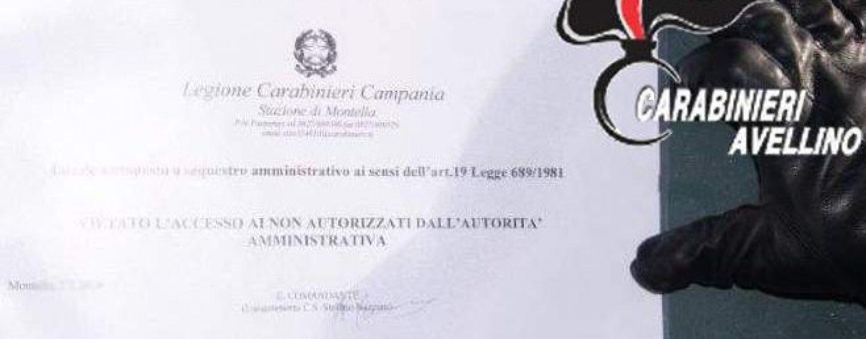Abusivismo artigianale, violazioni in materia ambientale e lavoro nero: scattano i sequestri a Montella