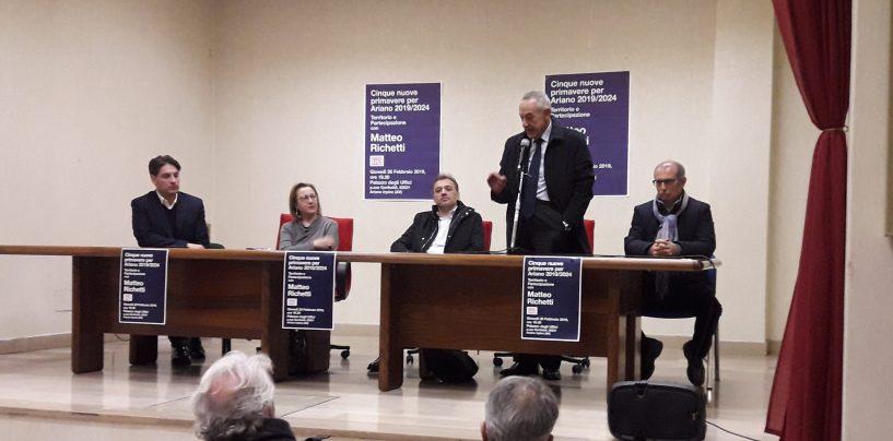 """Primarie Pd, Richetti ad Ariano su giovani, lavoro e territori: """"Passiamo dalle parole ai fatti"""""""