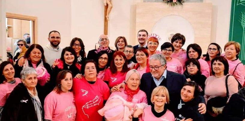 L'abbraccio rosa dell'Amdos, ad Ariano la messa del paziente oncologico