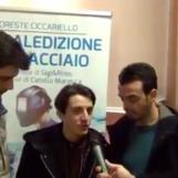 """VIDEO/ Gigi e Ross ad Avellino presentano """"La maledizione dell'acciaio"""""""