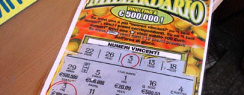 Con un Gratta e Vinci da 5 euro vince mezzo milione, la Dea bendata bacia Altavilla