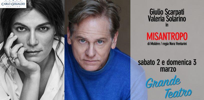 Teatro Gesualdo, due weekend doc: sabato e domenica Scarpati-Solarino, poi Siani