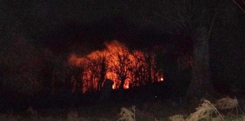 Castagneto in fiamme a Montoro, allertata la Protezione Civile