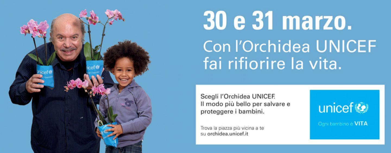 Torna l'Orchidea dell'Unicef in 2.400 piazze, con Lino Banfi per salvare i bambini malnutriti