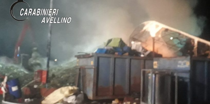 VIDEO / Incendio in un'azienda di rifiuti di Serino, indagano i Carabinieri