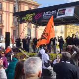 """VIDEO/ """"Ci hanno fatto vergognare di essere terremotati, ora da questa città si leva un grido contro le mafie"""""""