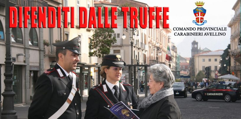 Truffe agli anziani, ad Avellino Avella e Sperone le indagini dei carabinieri