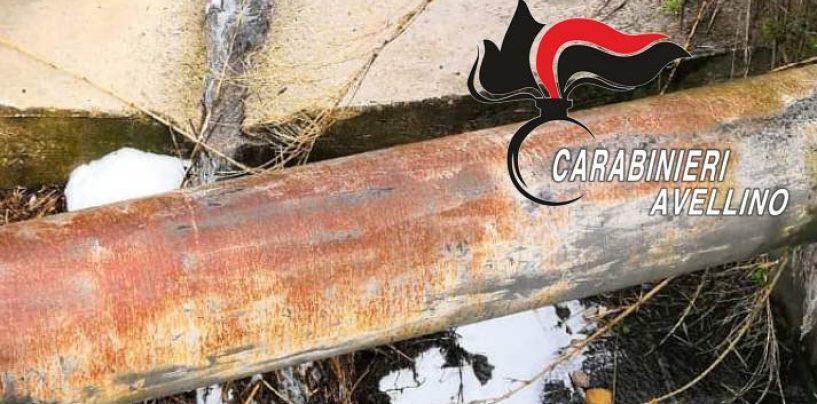 Sversava rifiuti speciali nel torrente: denunciato imprenditore di Solofra