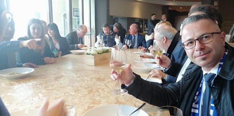 """Salvini, pranzo made in Irpinia a San Michele di Serino dopo il comizio al """"Partenio"""""""