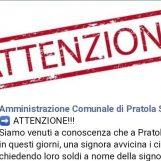 """Chiede soldi per una parente ricoverata. Il sindaco di Pratola avvisa: """"E' una trappola"""""""