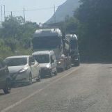 Decostruzione viadotto Parolise: traffico in tilt sull'Ofantina