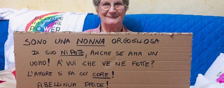 """Abellinum Pride, """"L'amore si fa cò o core"""": il messaggio virale di nonna Eleonora"""