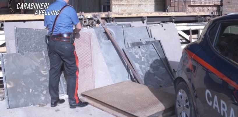 Sorpresi mentre trafugavano lastre di ferro in una ditta, in manette tre persone in Valle Caudina