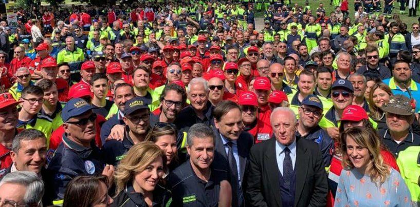 """Universiadi, la carica dei 2mila volontari della Protezione Civile. De Luca: """"La priorità è la sicurezza"""""""