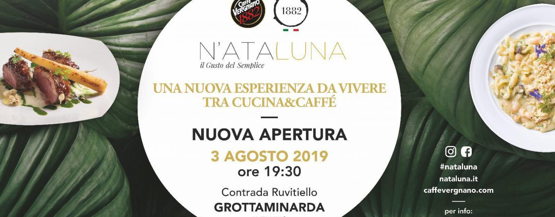 """N'Ata Luna"" feat. Caffè Vergnano 1882: tutto pronto per l'inaugurazione a Grottaminarda"
