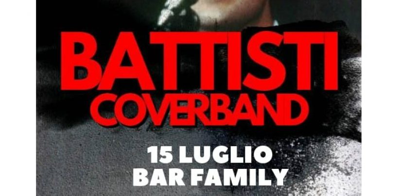 """Battisti Coverband"": appuntamento il 15 luglio al Bar Family di Bonito"