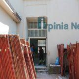 """FOTO/ Liceo """"Mancini"""", via i sigilli per i lavori di messa in sicurezza della palestra"""