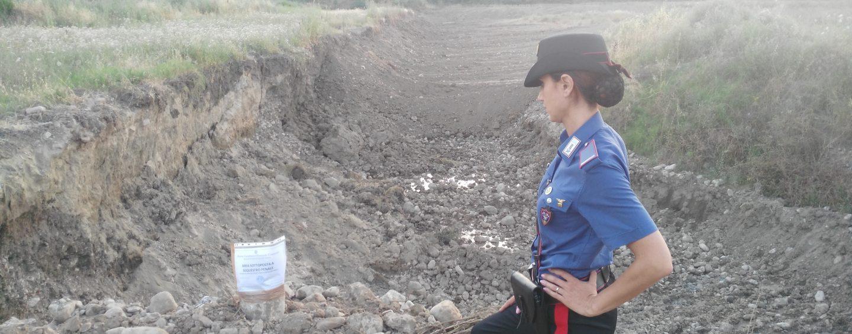Estrazione abusiva dal fiume Miscano: scattano denunce e sequestro