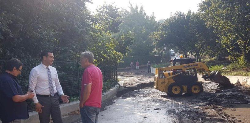 Bomba d'acqua su Avellino, disagi in diverse strade della città: in azione anche i mezzi del Comune