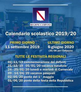 Calendario Scolastico 2020 20 Emilia Romagna.Scuola Ecco Il Calendario Scolastico 2019 20 In Campania
