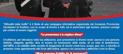 """VIDEO / """"Difenditi dalle truffe"""", i consigli dei carabinieri di Avellino per non essere raggirati"""