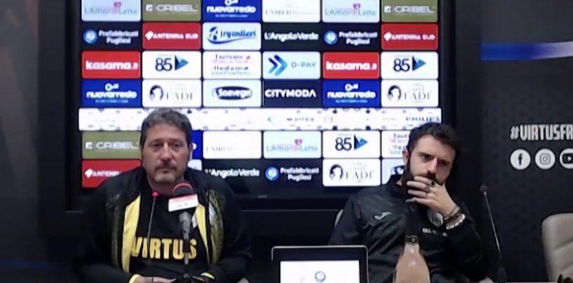 """Virtus Francavilla, Trocini: """"Speso tanto contro il Bari, Avellino organizzato"""""""