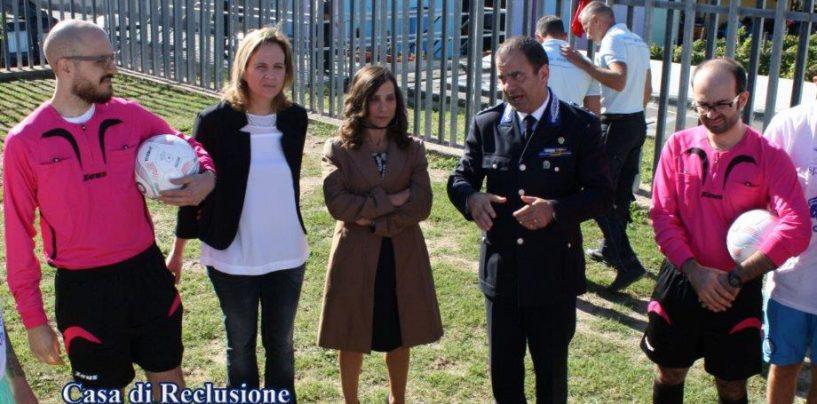L'Uisp coinvolge i detenuti del carcere di Sant'Angelo dei Lombardi: sano divertimento con il calcio a 8