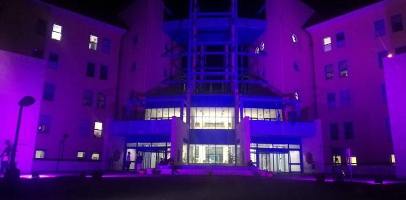 """""""Camminata"""" per la prevenzione, la Città Ospedaliera si illumina di rosa"""