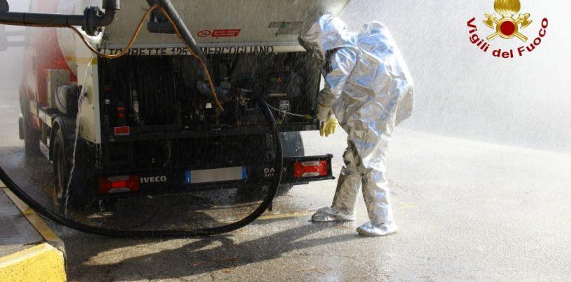 FOTO / Perdita di gas in un'azienda, all'esercitazione di Monteforte in azione anche i vigili del Fuoco