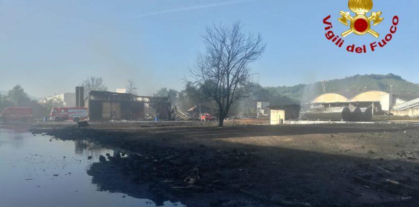 Incendio Pianodardine, la notte di lavoro dei vigili del fuoco