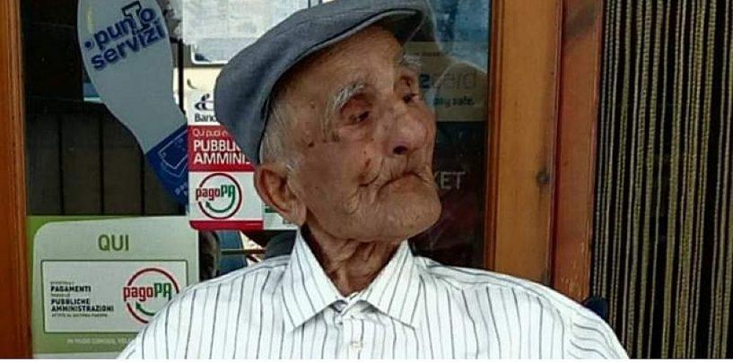 A Sessa Cilento l'uomo più anziano della Campania: zio Pietro ha 106 anni