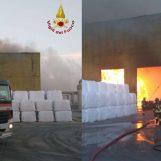 Benevento: torna a bruciare lo Stir di Casalduni, in fiamme un capannone
