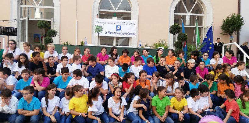 FOTO / La svolta green inizia dalle scuole: la Regione dona alberi e piante agli istituti irpini