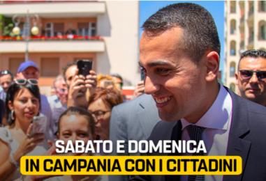 Tour in Campania per il Ministro Di Maio: si chiude sotto le luci di Salerno