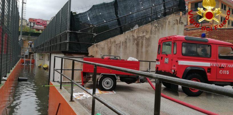 Maltempo, giornata difficile: in soccorso dei vigili del fuoco irpini quelli della Puglia