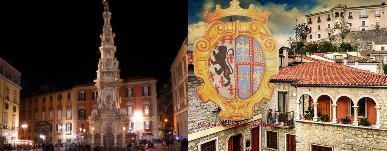 Punto informativo dedicato a Gesualdo e all'Irpinia a Piazza del Gesù Nuovo a Napoli