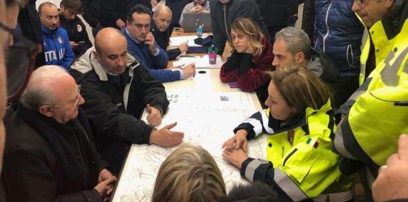 Maltempo, in Irpinia si contano i danni. 300 sfollati a San Martino Valle Caudina: arriva De Luca