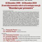 Lunedi' alle 18.00 incontro a San Martino Valle Caudina per non dimenticare la tragedia della montagna
