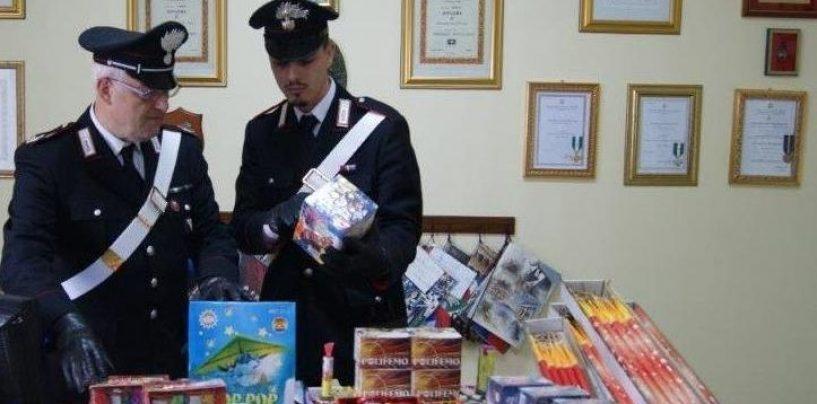 Vendeva fuochi d'artificio senza autorizzazioni: scatta denuncia e sequestro